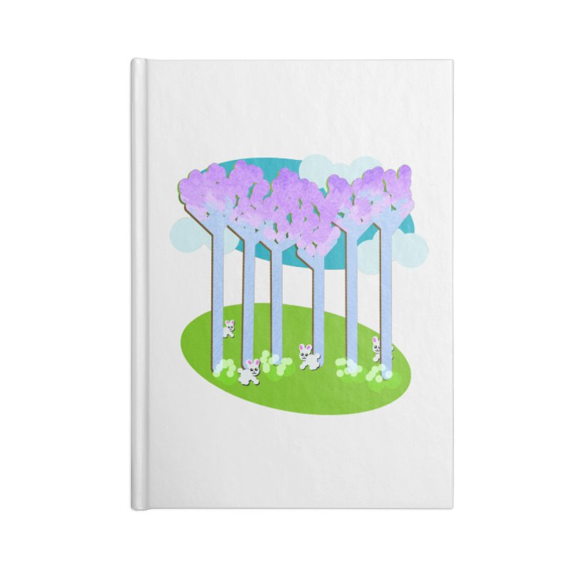 Pastel Woods with Bunnies Accessories Blank Journal Notebook by Make a statement, laugh, enjoy.
