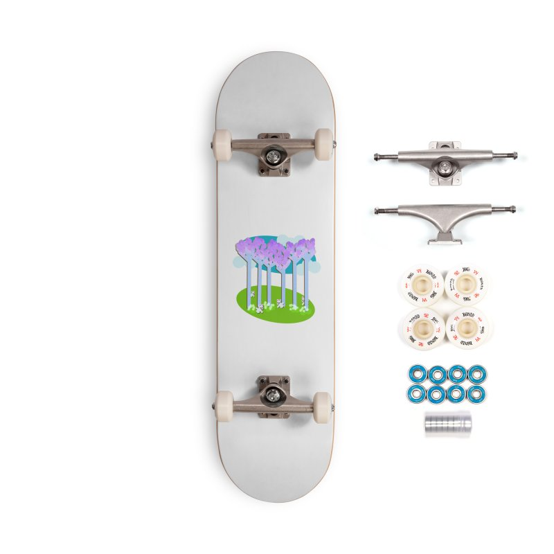 Pastel Woods with Bunnies Accessories Complete - Premium Skateboard by Make a statement, laugh, enjoy.