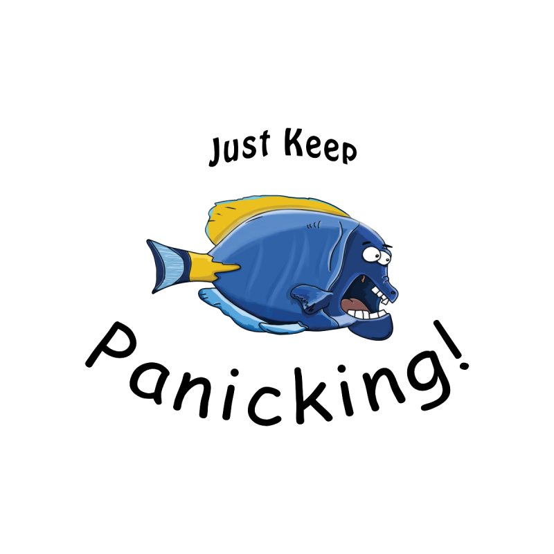 Just Keep Panicking! by Sporkshirts's tshirt gamer movie and design shop.
