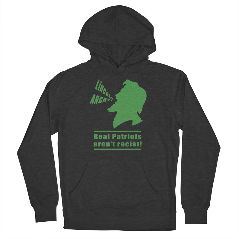 Real patriots aren't racist! in Women's French Terry Pullover Hoody Smoke by Sporkshirts's tshirt gamer movie and design shop.
