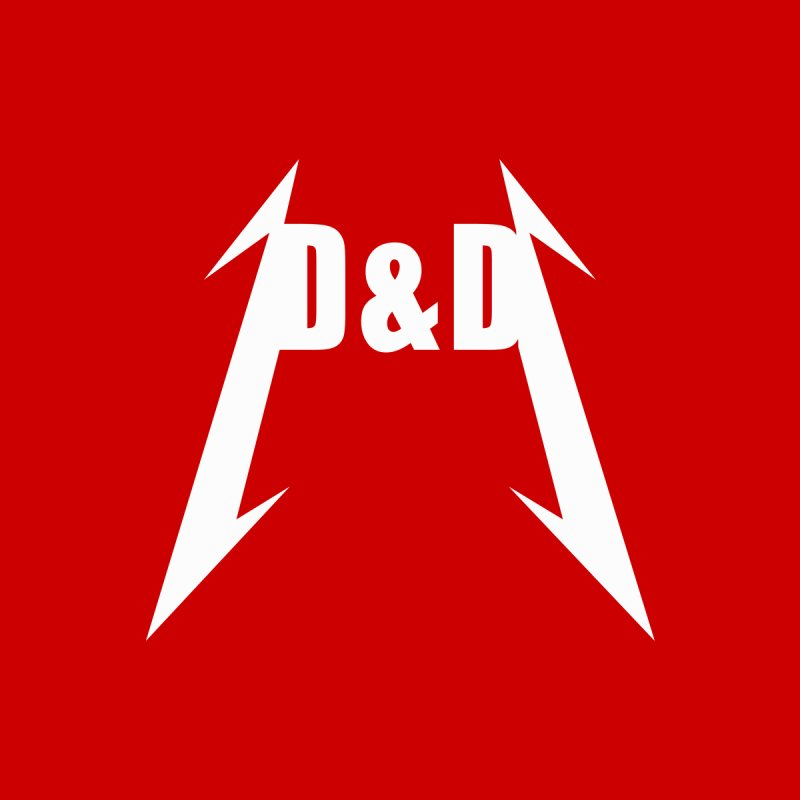 D&D - Tallica. A homage to both Dungeons and Dragons and Metallica shirt. by Sporkshirts's tshirt gamer movie and design shop.