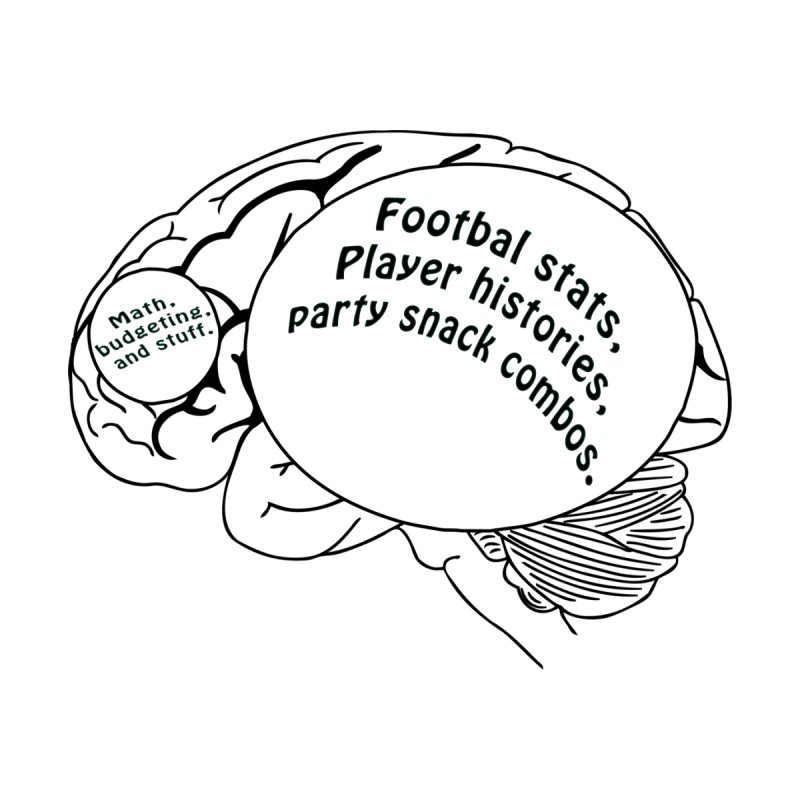Football on the brain. by Sporkshirts's tshirt gamer movie and design shop.