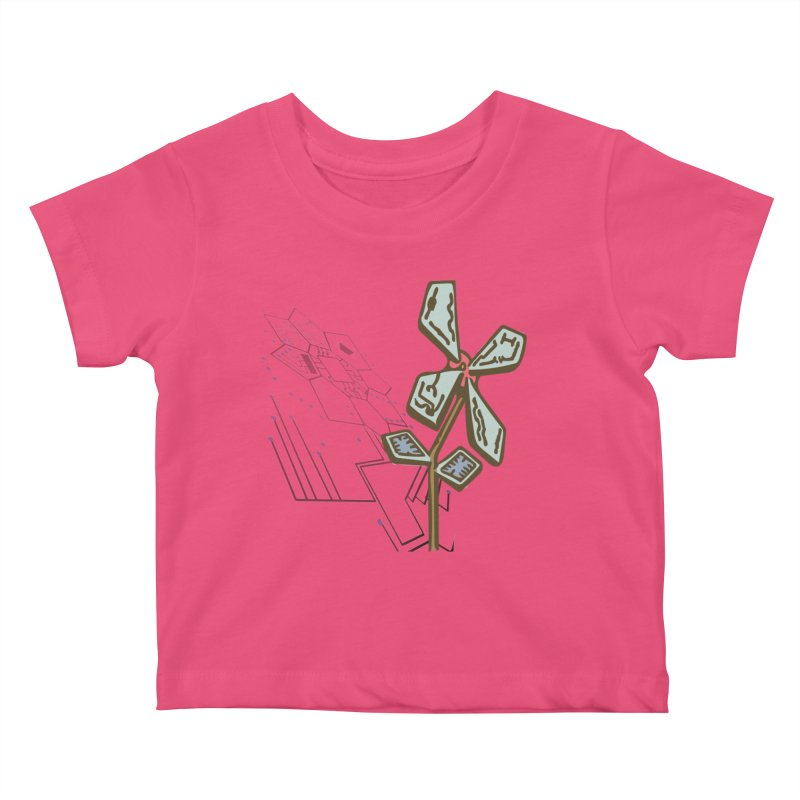 Shadow of Itself in Kids Baby T-Shirt Fuchsia by Make a statement, laugh, enjoy.