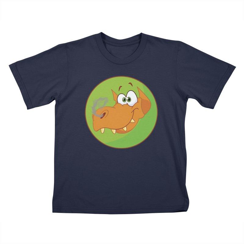 Cute Dragon in Kids T-Shirt Navy by Make a statement, laugh, enjoy.