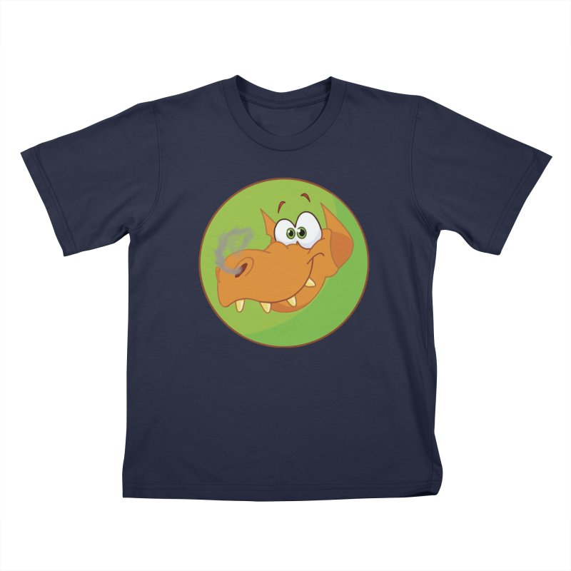 Cute Dragon in Kids T-Shirt Navy by Sporkshirts's tshirt gamer movie and design shop.