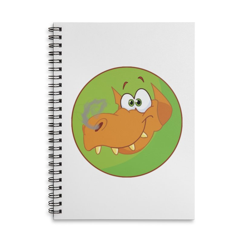 Cute Dragon in Lined Spiral Notebook by Make a statement, laugh, enjoy.