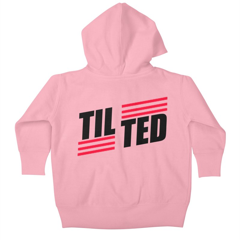 Tilted, for fans of PubG, Fortnight, Overwatch. Kids Baby Zip-Up Hoody by Make a statement, laugh, enjoy.