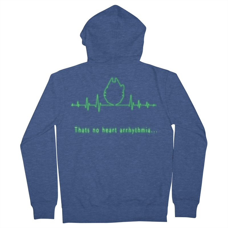 That's no heart arrhythmia... Men's French Terry Zip-Up Hoody by Make a statement, laugh, enjoy.