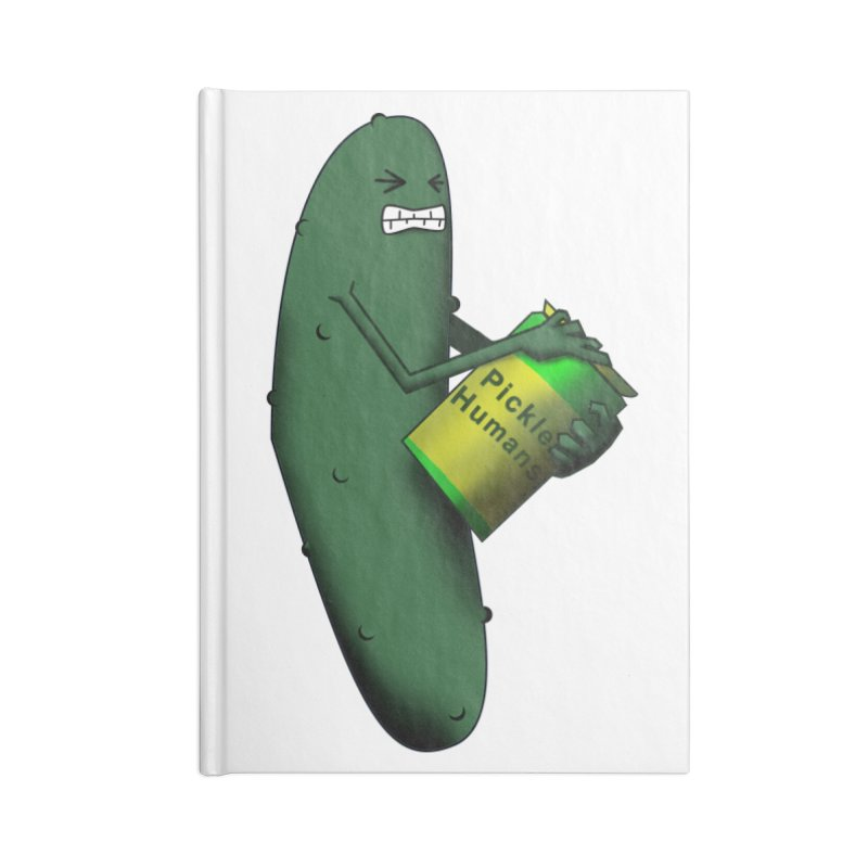 Pickle shirt Accessories Blank Journal Notebook by Make a statement, laugh, enjoy.