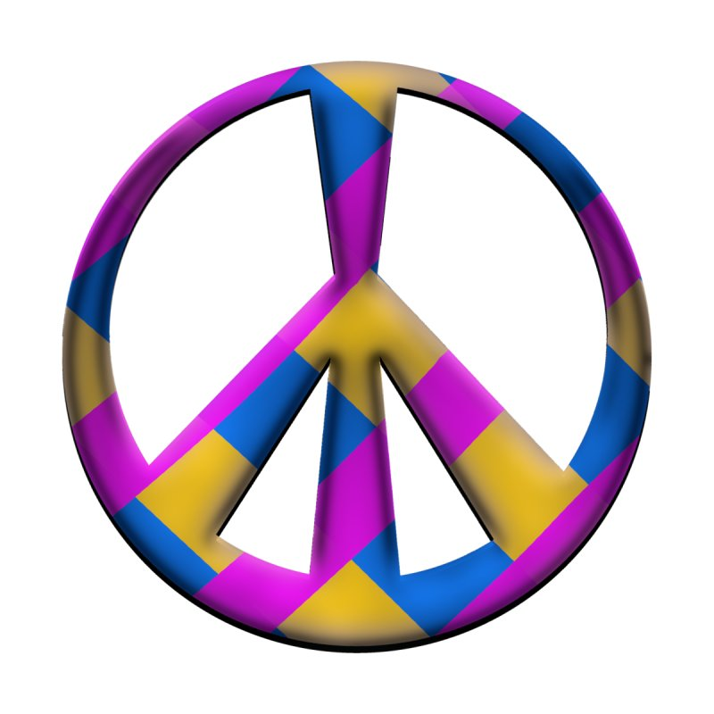 Peace Symbol Men's T-Shirt by Make a statement, laugh, enjoy.