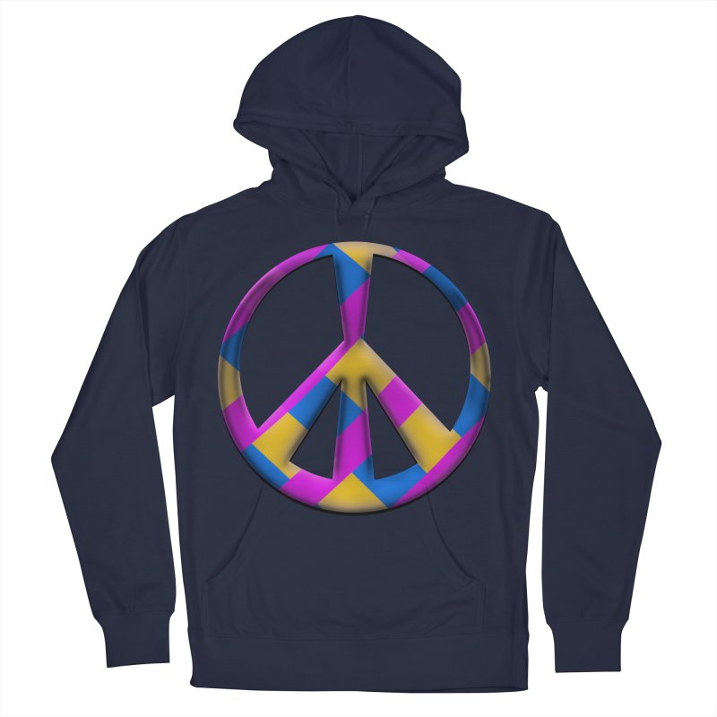 Peace Symbol Men's Pullover Hoody by Make a statement, laugh, enjoy.