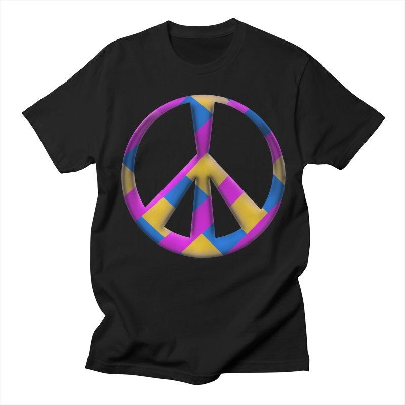Peace Symbol Men's T-Shirt by Make a statement, laugh, enjoy.