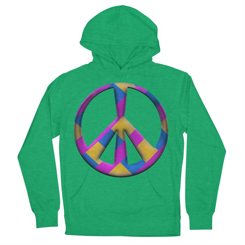 Peace Symbol Women's French Terry Pullover Hoody by Make a statement, laugh, enjoy.