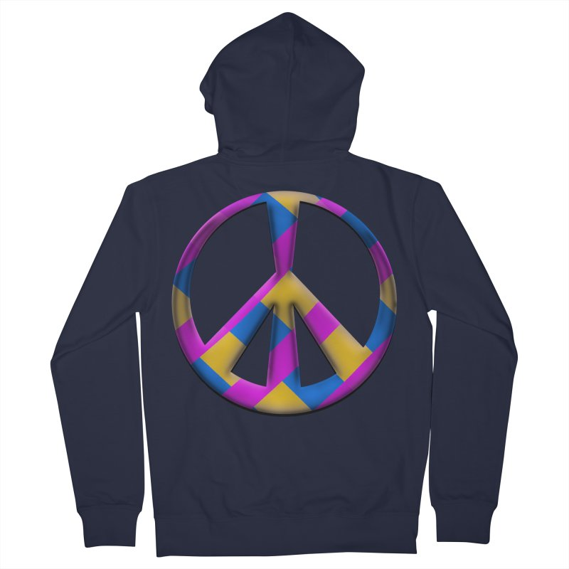 Peace Symbol Women's French Terry Zip-Up Hoody by Make a statement, laugh, enjoy.