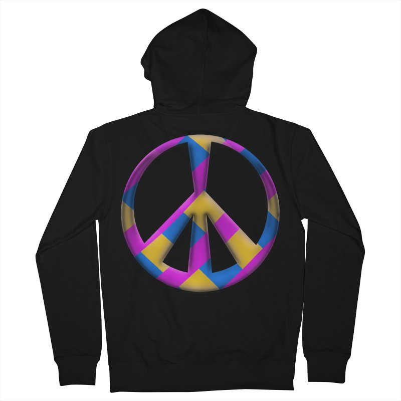 Peace Symbol Men's French Terry Zip-Up Hoody by Make a statement, laugh, enjoy.