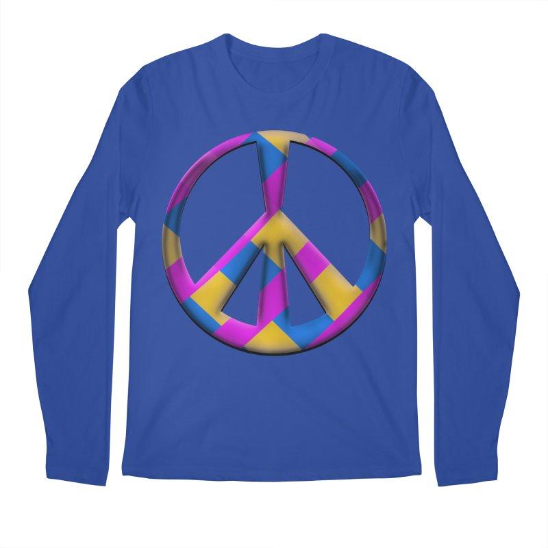 Peace Symbol Men's Regular Longsleeve T-Shirt by Make a statement, laugh, enjoy.