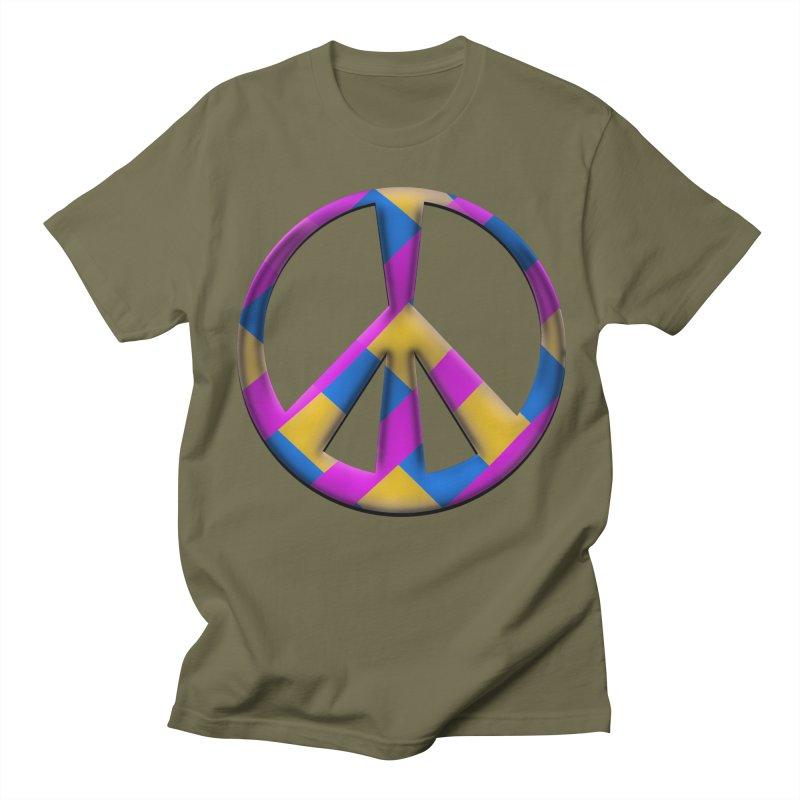Peace Symbol Men's Regular T-Shirt by Make a statement, laugh, enjoy.