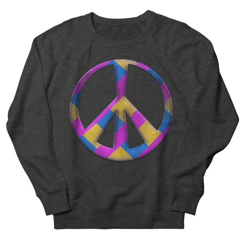 Peace Symbol Women's French Terry Sweatshirt by Make a statement, laugh, enjoy.