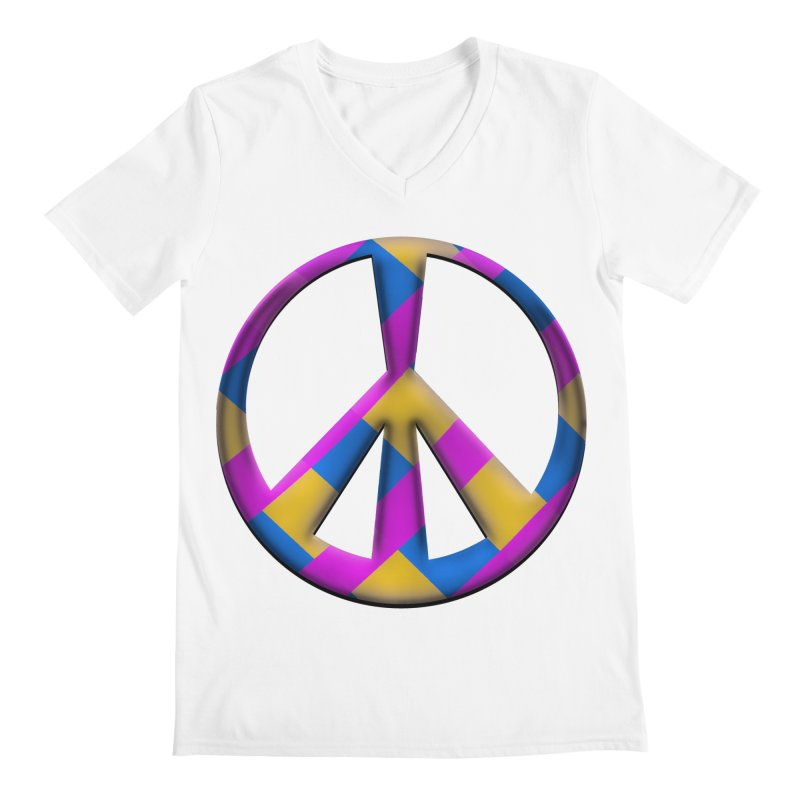 Peace Symbol Men's V-Neck by Make a statement, laugh, enjoy.