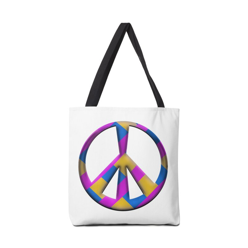 Peace Symbol Accessories Tote Bag Bag by Make a statement, laugh, enjoy.