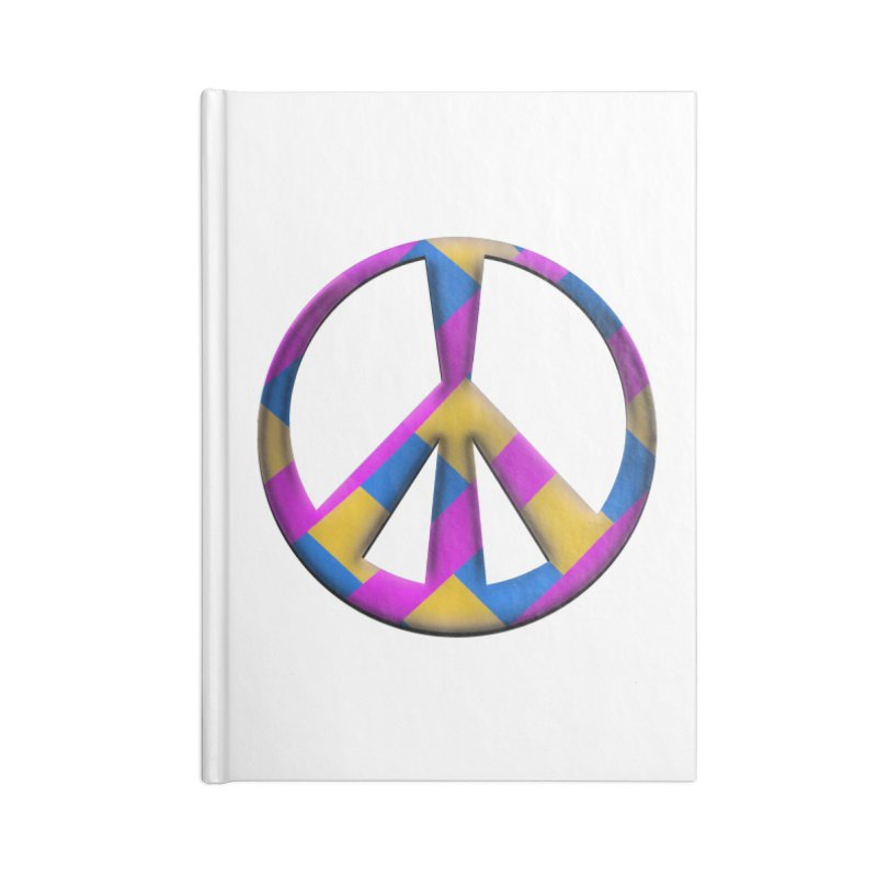 Peace Symbol Accessories Blank Journal Notebook by Make a statement, laugh, enjoy.