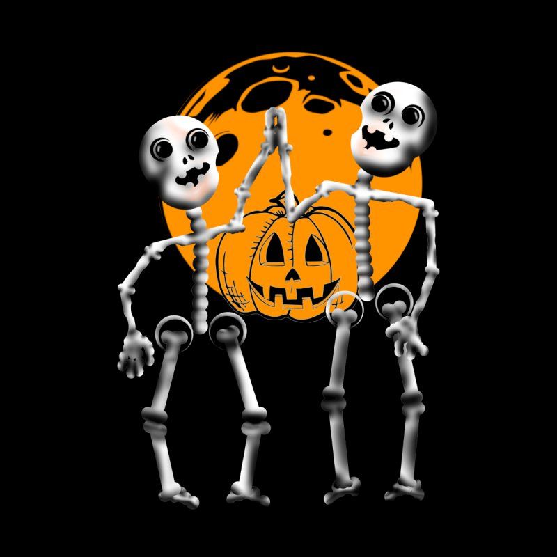 Skeleton and jack-o-lantern Halloween shirt for kids. Kids Baby Zip-Up Hoody by Make a statement, laugh, enjoy.