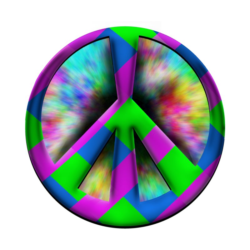 Colorful Peace symbol Kids Baby Zip-Up Hoody by Make a statement, laugh, enjoy.