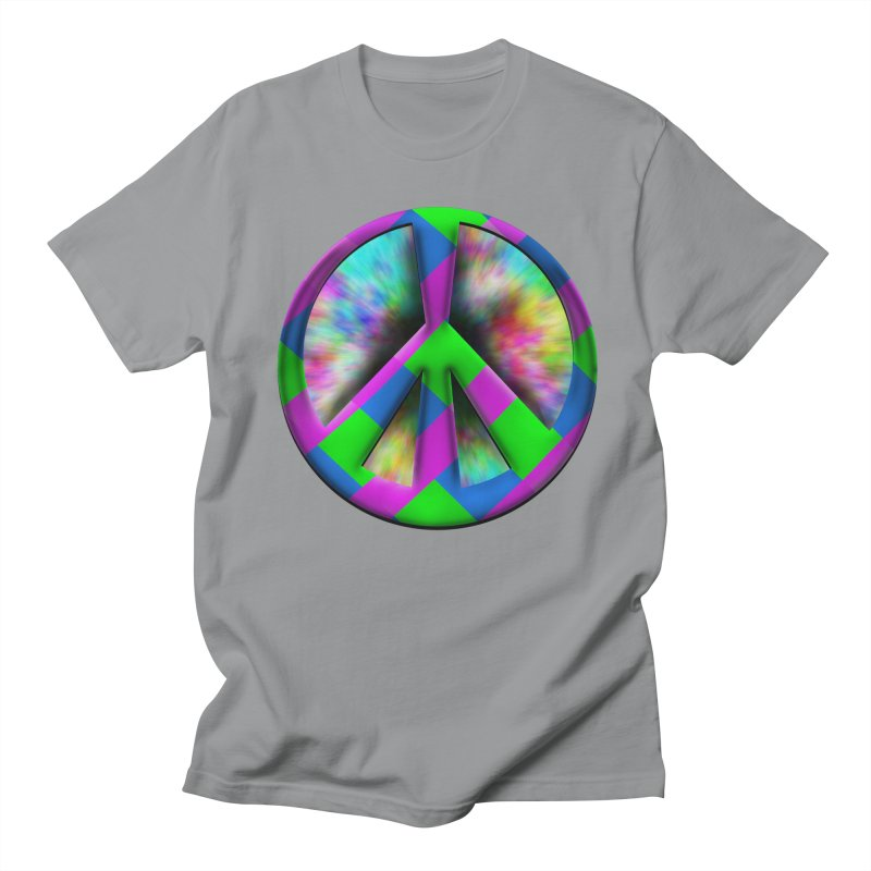 Colorful Peace symbol Men's Regular T-Shirt by Make a statement, laugh, enjoy.