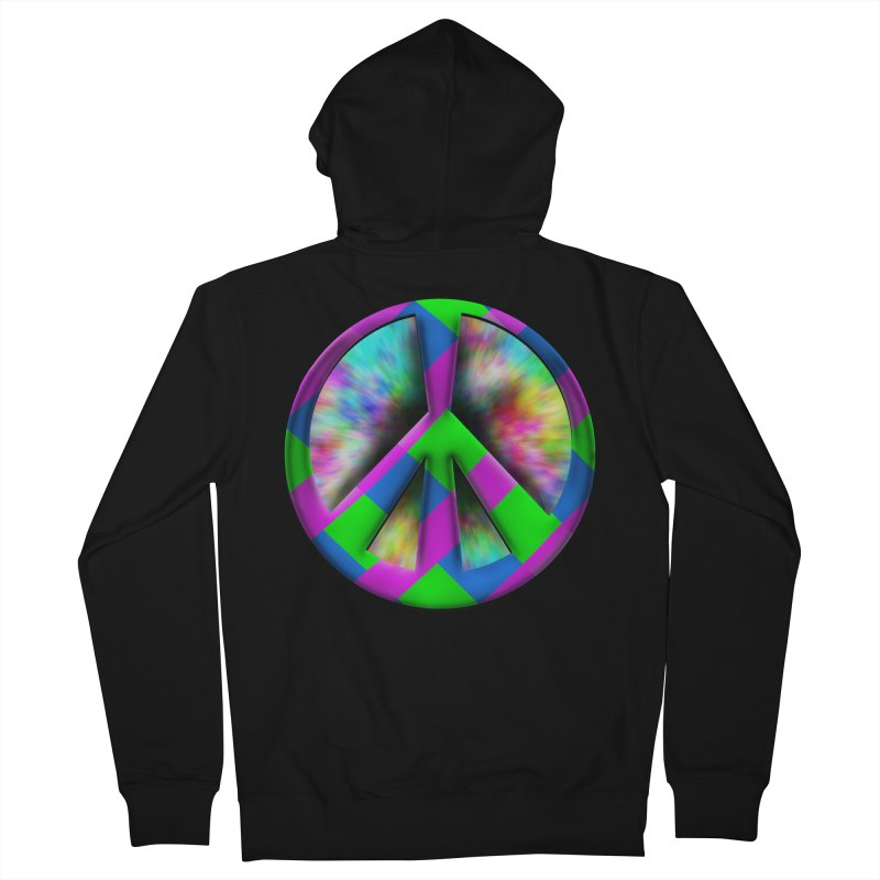 Colorful Peace symbol Women's French Terry Zip-Up Hoody by Make a statement, laugh, enjoy.