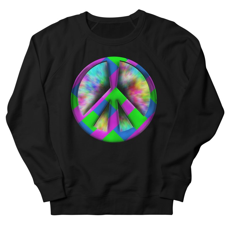 Colorful Peace symbol Women's French Terry Sweatshirt by Make a statement, laugh, enjoy.