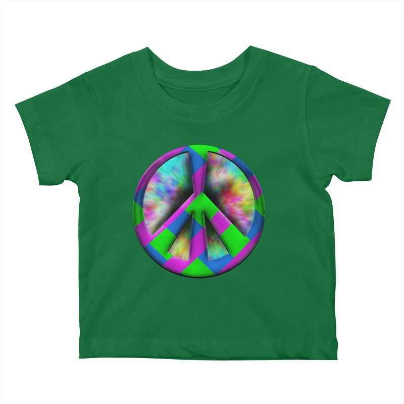 Colorful Peace symbol Kids Baby T-Shirt by Make a statement, laugh, enjoy.