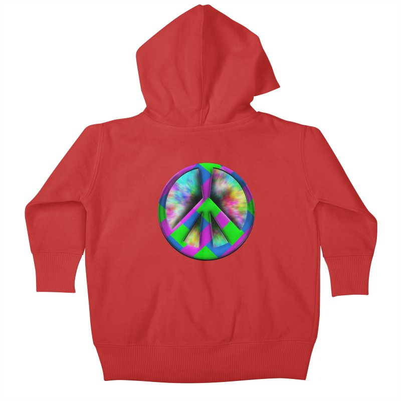 Colorful Peace symbol Kids Baby Zip-Up Hoody by Sporkshirts's tshirt gamer movie and design shop.