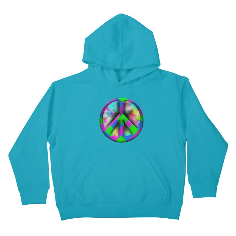 Colorful Peace symbol Kids Pullover Hoody by Sporkshirts's tshirt gamer movie and design shop.