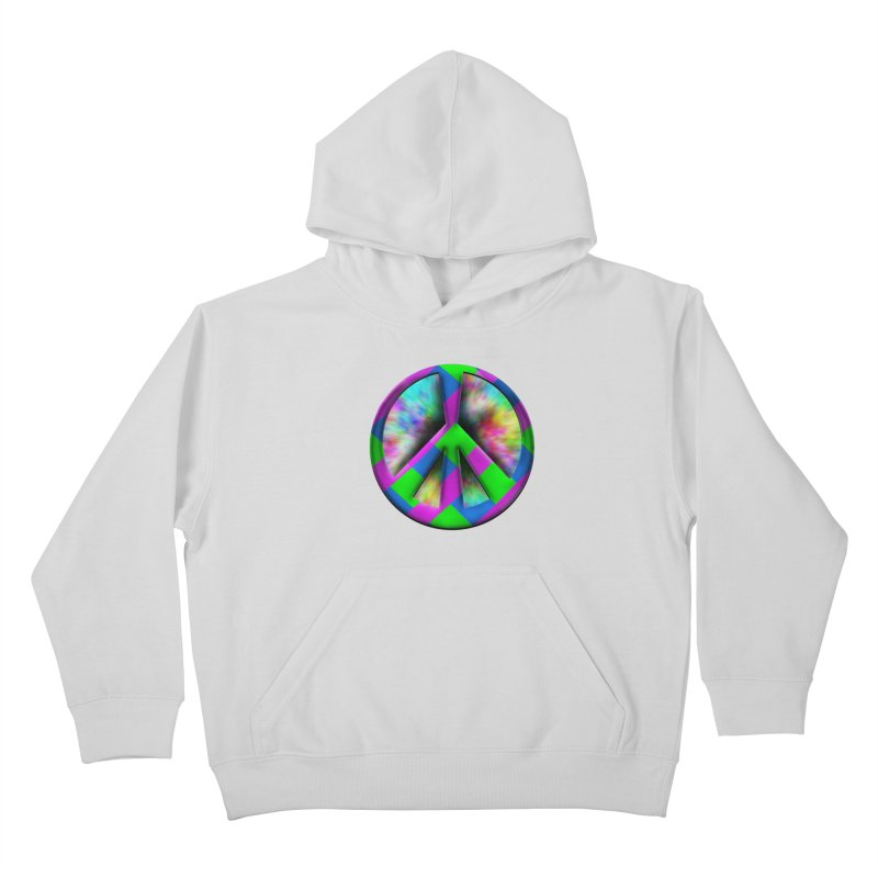 Colorful Peace symbol Kids Pullover Hoody by Make a statement, laugh, enjoy.
