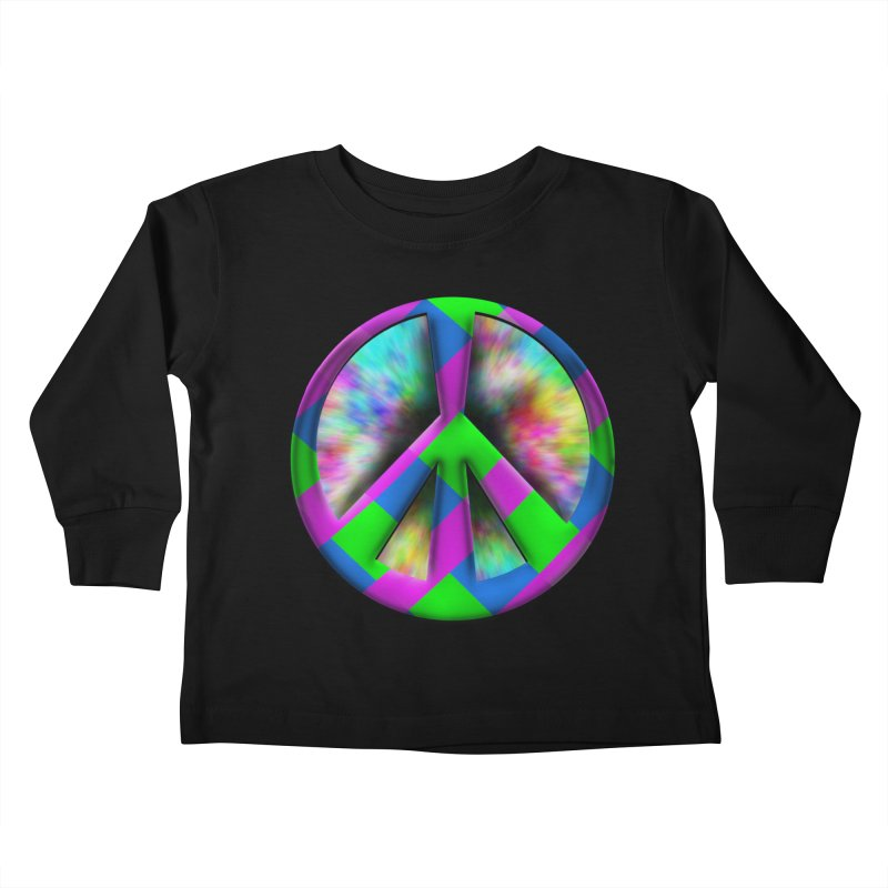 Colorful Peace symbol Kids Toddler Longsleeve T-Shirt by Make a statement, laugh, enjoy.