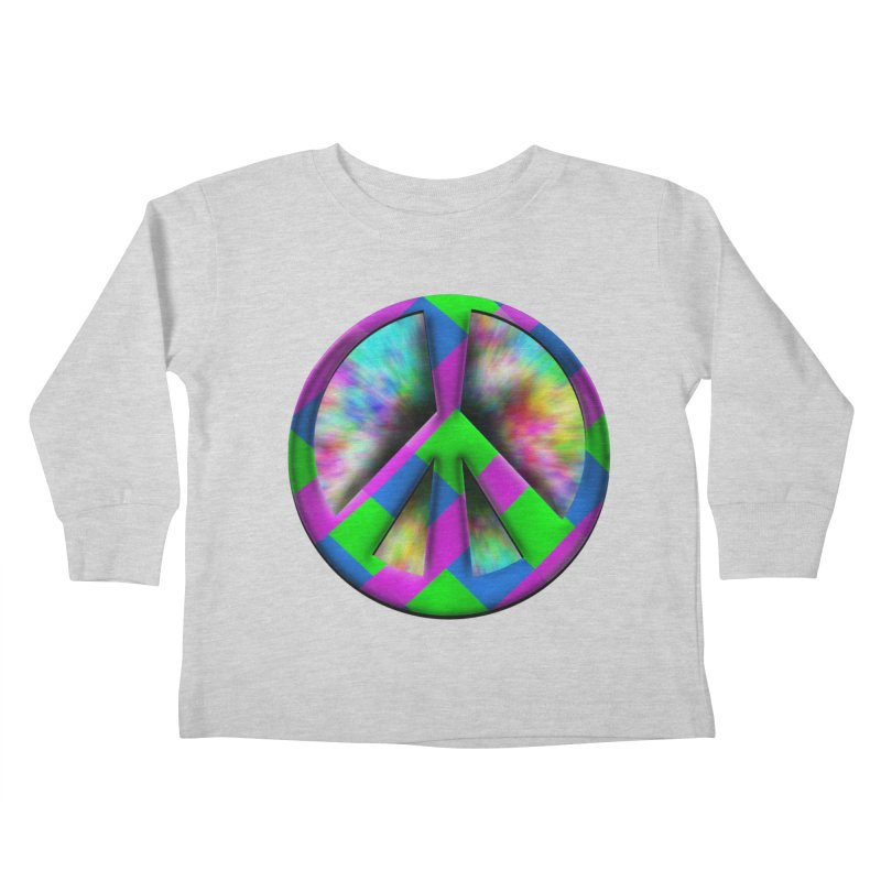 Colorful Peace symbol Kids Toddler Longsleeve T-Shirt by Sporkshirts's tshirt gamer movie and design shop.