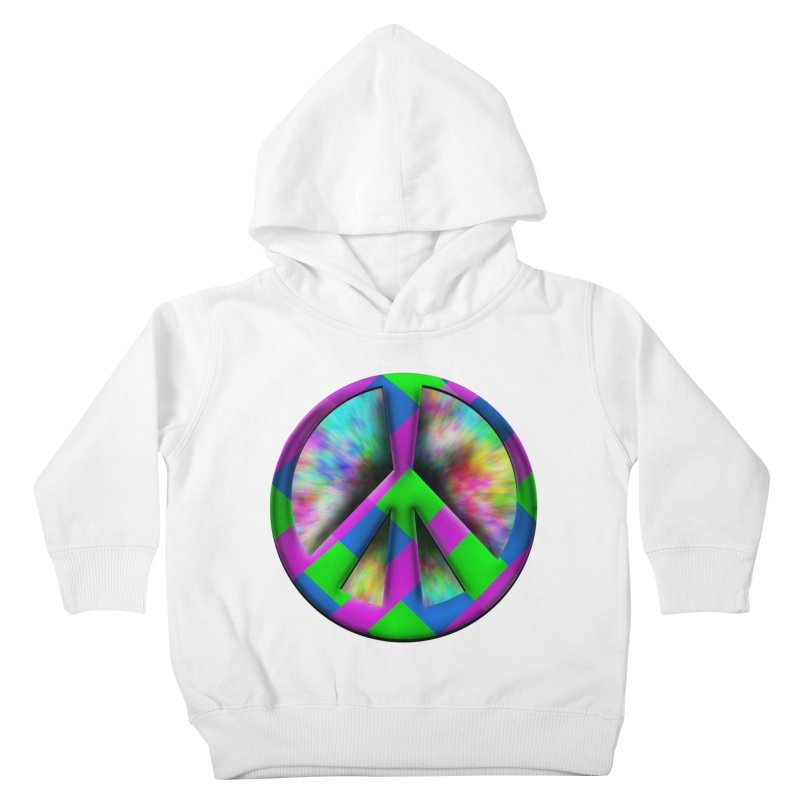 Colorful Peace symbol Kids Toddler Pullover Hoody by Sporkshirts's tshirt gamer movie and design shop.