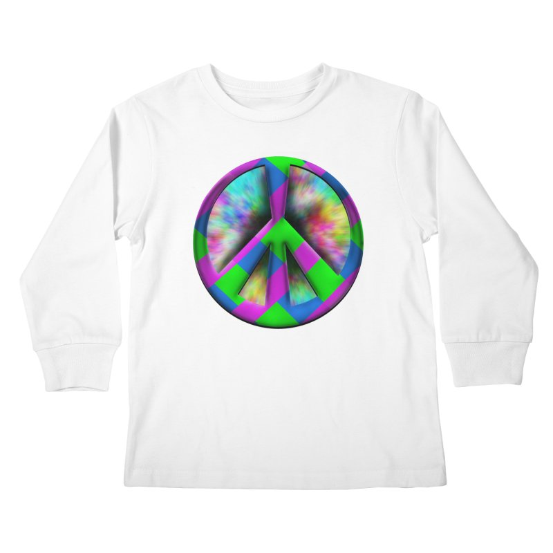 Colorful Peace symbol Kids Longsleeve T-Shirt by Make a statement, laugh, enjoy.