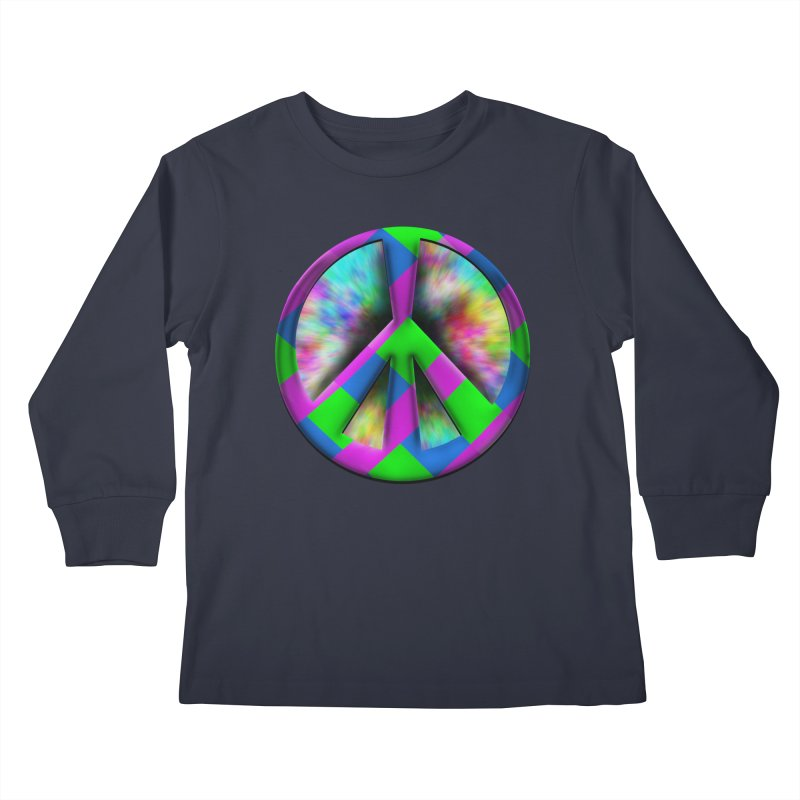 Colorful Peace symbol Kids Longsleeve T-Shirt by Sporkshirts's tshirt gamer movie and design shop.