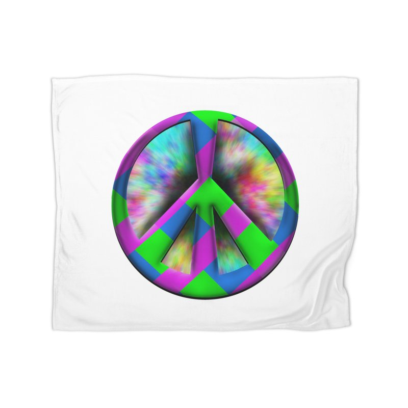 Colorful Peace symbol Home Fleece Blanket Blanket by Make a statement, laugh, enjoy.