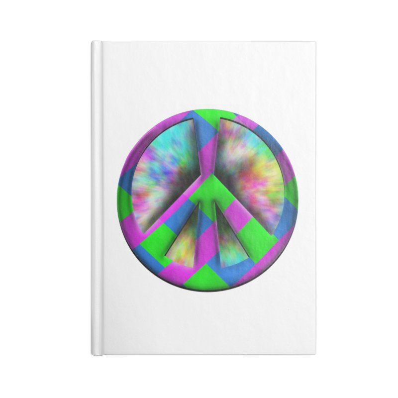 Colorful Peace symbol Accessories Blank Journal Notebook by Make a statement, laugh, enjoy.