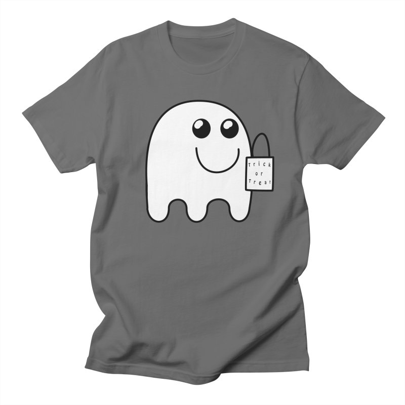 Trick or Treat ghost Men's T-Shirt by Make a statement, laugh, enjoy.