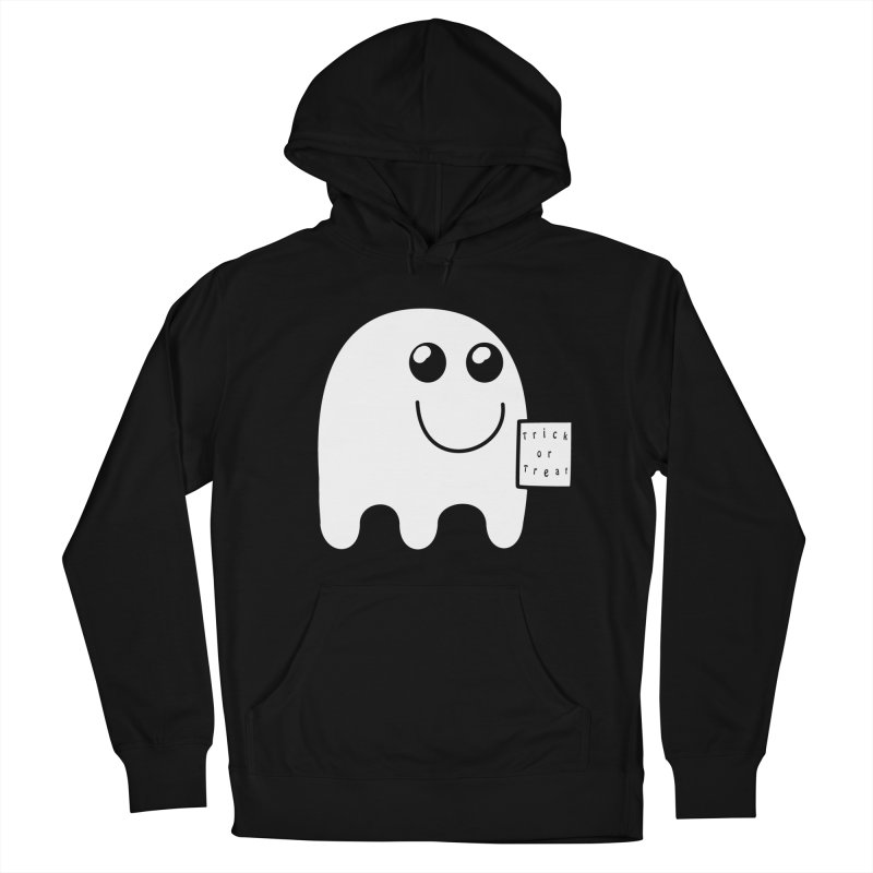 Trick or Treat ghost Women's French Terry Pullover Hoody by Make a statement, laugh, enjoy.