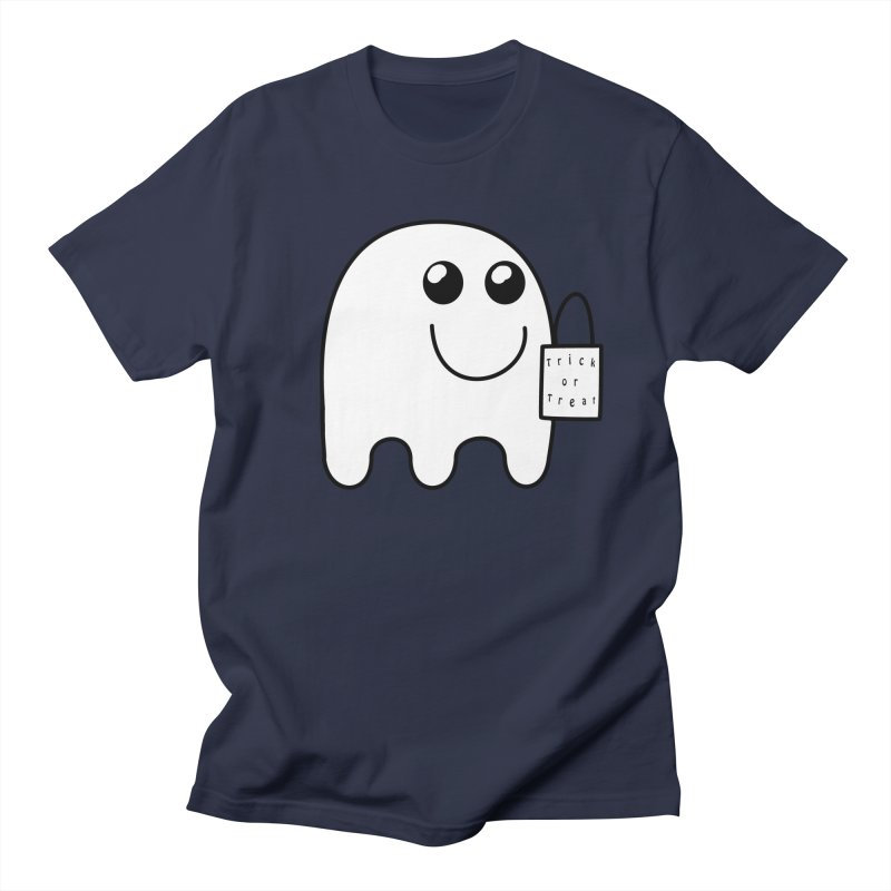 Trick or Treat ghost Men's Regular T-Shirt by Make a statement, laugh, enjoy.