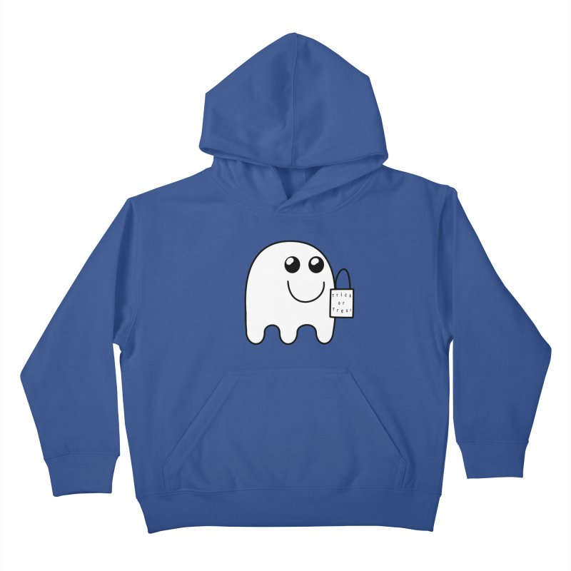 Trick or Treat ghost Kids Pullover Hoody by Sporkshirts's tshirt gamer movie and design shop.