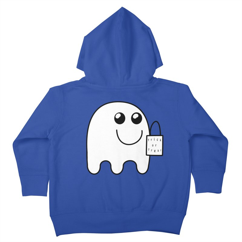 Trick or Treat ghost Kids Toddler Zip-Up Hoody by Make a statement, laugh, enjoy.