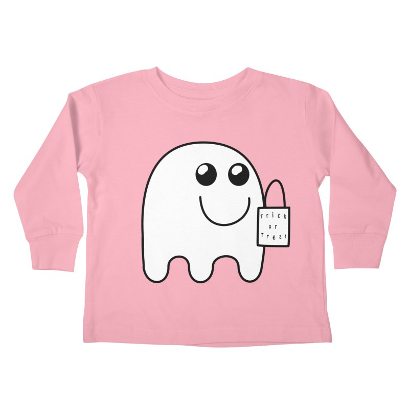 Trick or Treat ghost Kids Toddler Longsleeve T-Shirt by Make a statement, laugh, enjoy.