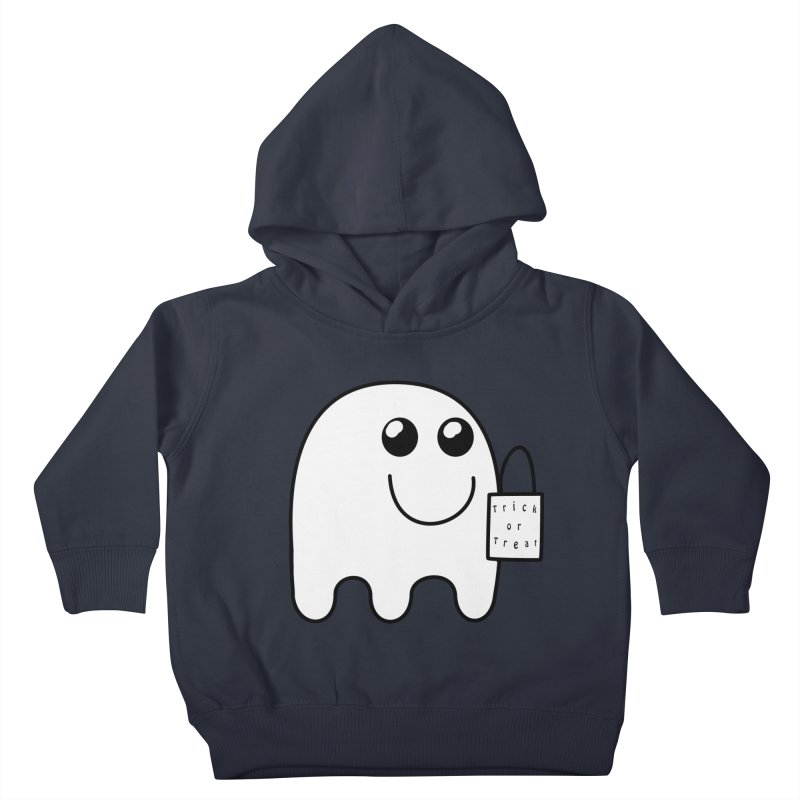 Trick or Treat ghost Kids Toddler Pullover Hoody by Sporkshirts's tshirt gamer movie and design shop.