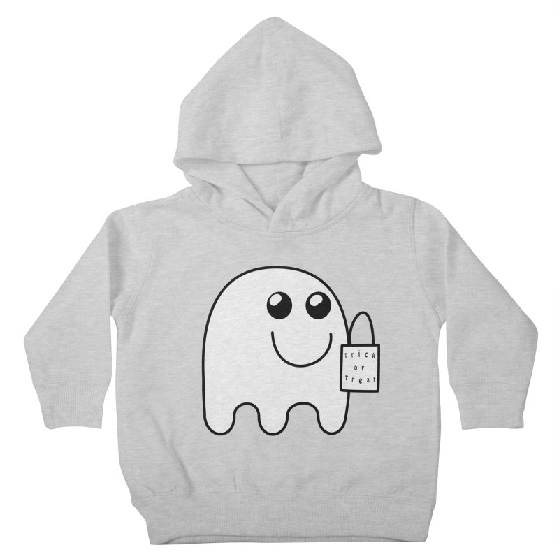Trick or Treat ghost Kids Toddler Pullover Hoody by Make a statement, laugh, enjoy.