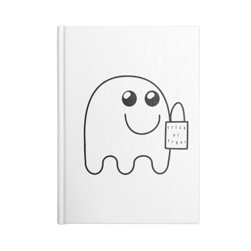 Trick or Treat ghost Accessories Blank Journal Notebook by Make a statement, laugh, enjoy.
